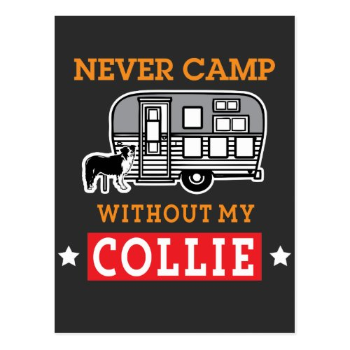 Border Collie Dog Shirt Funny RV Camping Travel Postcard