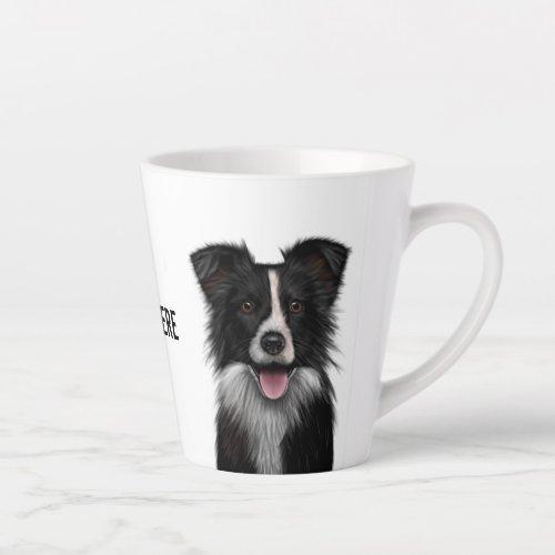 Border Collie Latte Mug
