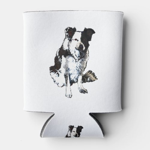 Border collie sheep dog can cooler