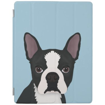 boston terrier cartoon iPad smart cover