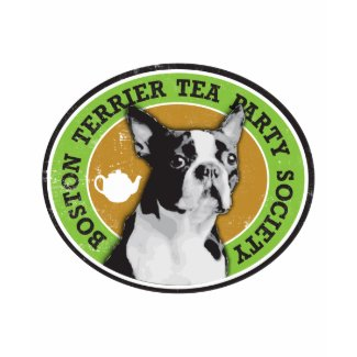 Boston Terrier Tea Party Society shirt