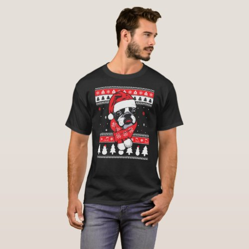 Boston Terrier Christmas Sweater.Llama Unicorn More Ugly Christmas Sweater Shirts Gifts