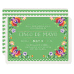 Botanical Banner Fiesta Invitation - Verde