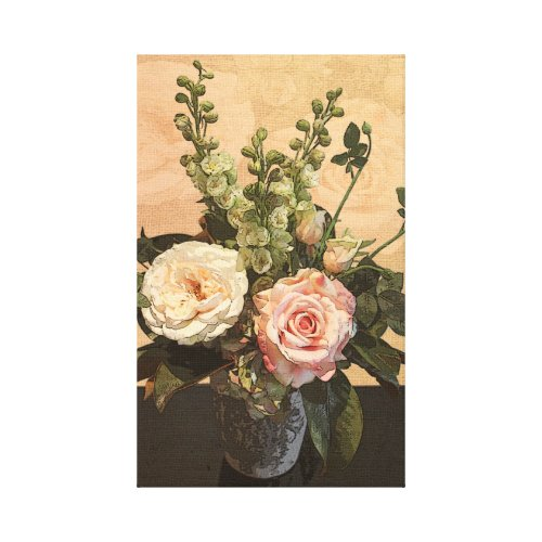Botanical Rose Painting zazzle_wrappedcanvas