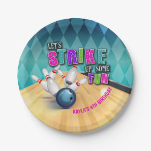Bowling Birthday Party Supplies Zazzle