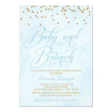 Boy Baby Brunch Baby Shower Invitations