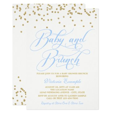 Boy Baby Shower Brunch Invitations