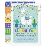 Boy Llama Birthday / Cute Alpaca Fiesta Party Invitation