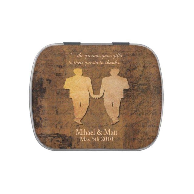 Boy Meets Boy Gay Wedding Favor Jelly Bellies