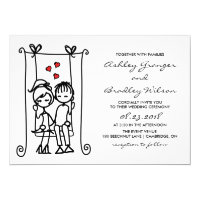 Boy Meets Girl | Modern Doodles Wedding Invitation