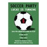 Boy's Soccer Ball Birthday Party Invitation