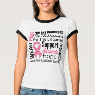 Breast Cancer I Wear Pink Ribbon TRIBUTE shirt