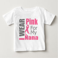 Breast Cancer Ribbon I Wear Pink Nana Shirts