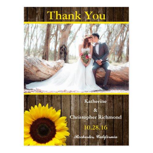 Bridal Bouquet Red Flowers/sunflower theme Postcard