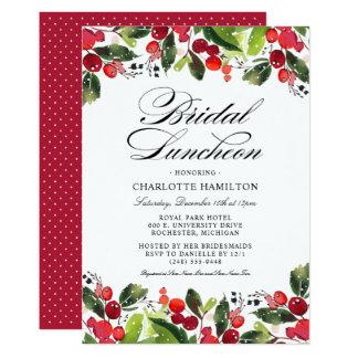 Bridal Luncheon Invitations Christmas Fls