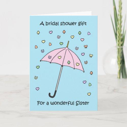 Bridal Shower Gift for Sister Invitation