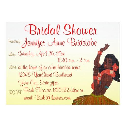 Bridal Shower Invitations Tropical Theme