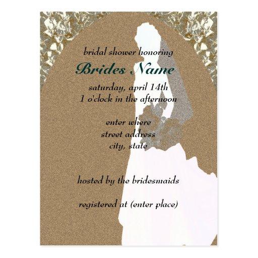 Postcard Bridal Shower Invitations