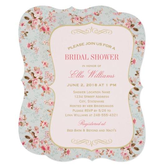 Bridal Shower Invitation Vine Garden Party