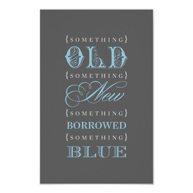 old new borrowed blue bridal shower theme