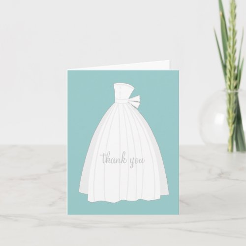 Bridal Shower Thank You Cards {Teal Blue}