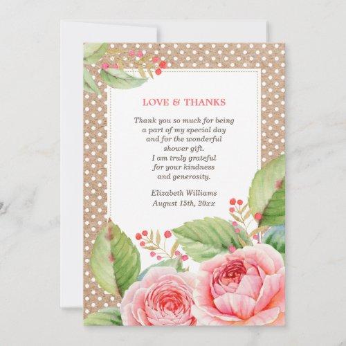 Bridal Shower Thank You Custom Flat Cards