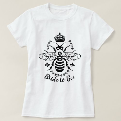 Bride to Bee Honeybee Crown Wedding | Personalized T-Shirt