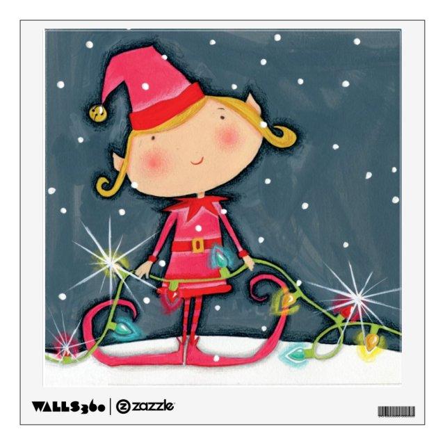 Bright Christmas Elf Wall Sticker
