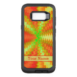 Bright Colorful Orange Yellow Green Abstract OtterBox Defender Samsung Galaxy S8+ Case