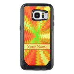 Bright Colorful Orange Yellow Green Abstract OtterBox Samsung Galaxy S7 Edge Case