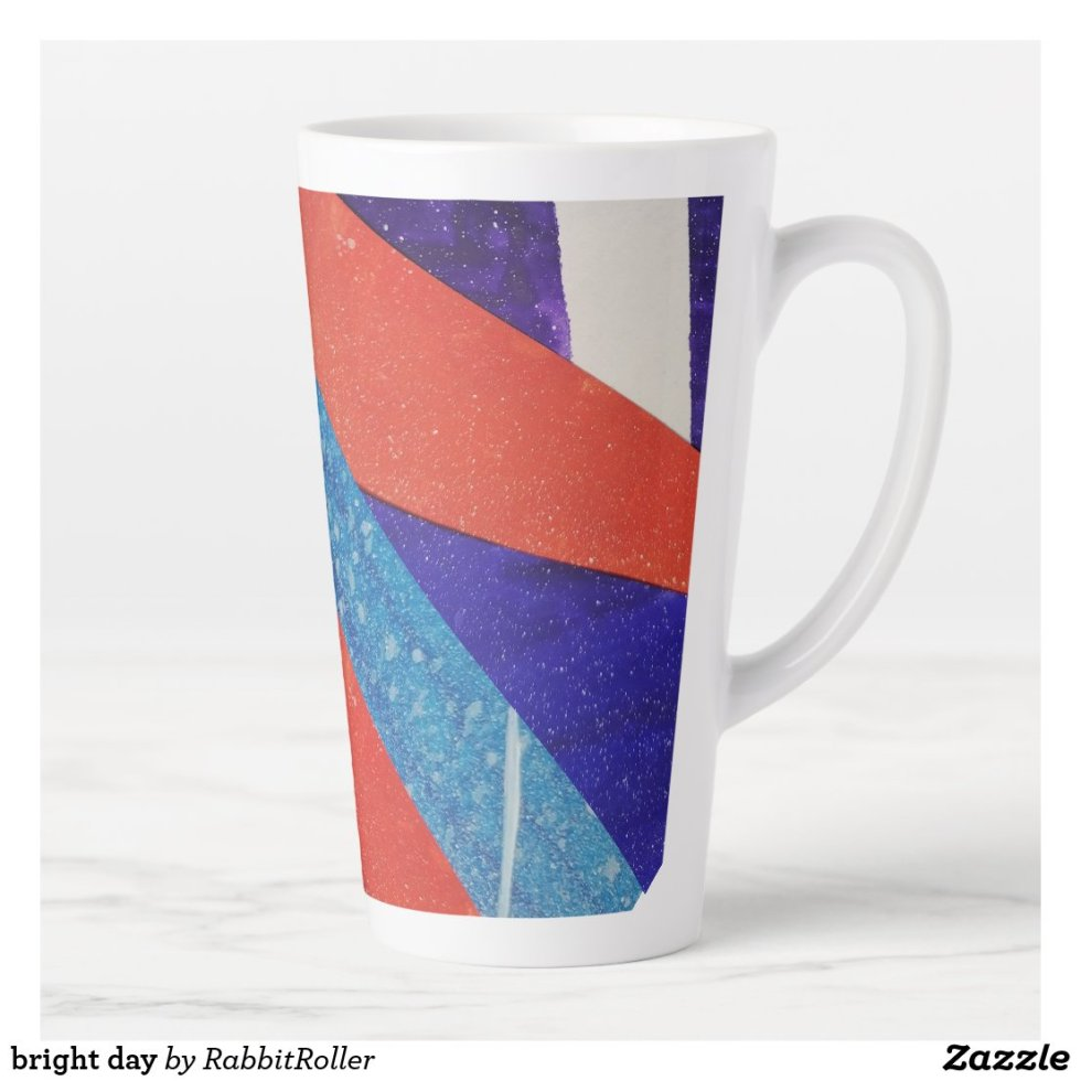 bright day latte mug