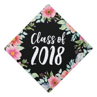 Bright Floral | Graduation Cap Topper