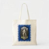 Bright N Sparkling Llama in Royal Blue Tote Bag
