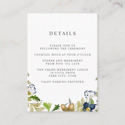 Bright Oak    WEDDING Hotel details Accommodation Enclosure Card