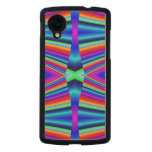 Bright Rainbow colors Pattern Carved® Maple Nexus 5 Slim Case