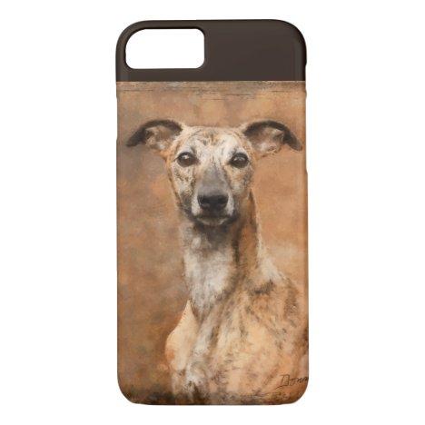 Brindle Whippet Dog iPhone 8/7 Case