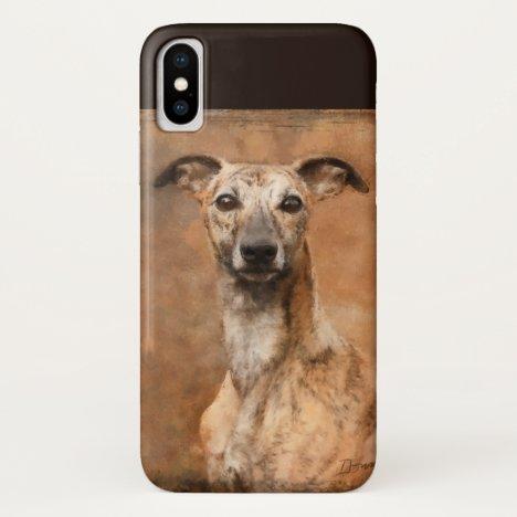 Brindle Whippet Dog iPhone X Case