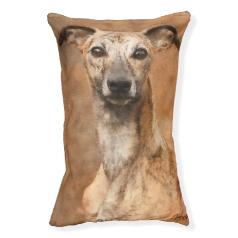Brindle Whippet Dog Pet Bed