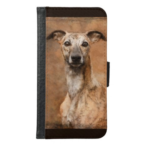 Brindle Whippet Dog Samsung Galaxy S6 Wallet Case
