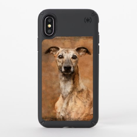 Brindle Whippet Dog Speck iPhone X Case