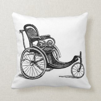 Bring out the Bath Chairs! Throw Pillow