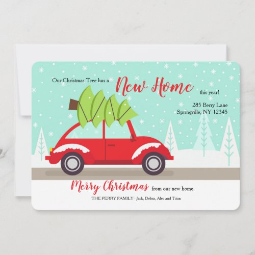 Bringing the Tree Home Moved Holiday Announcement
