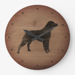 Brittany Silhouette Rustic Style Large Clock