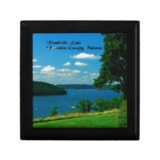 Brookville Lake, Franklin County Indiana Trinket Box