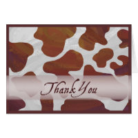 Brown and White Cow Spots Thank You Card
