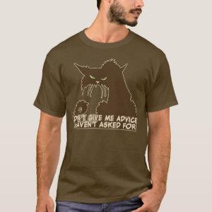 Brown Cat Advice Saying T-Shirt