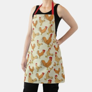 Brown Chickens Apron