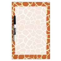 Brown Giraffe Pattern Dry-Erase Boards