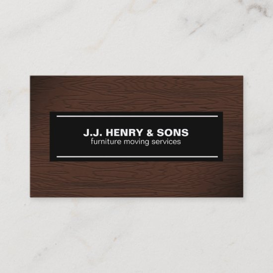 Brown Wood Grain Business Card