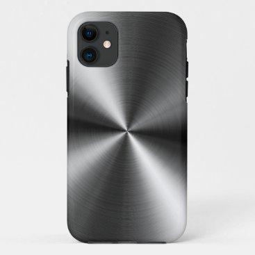 Brushed Metal Swirls iPhone 11 Case